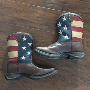 Durango Flag Leather Boots